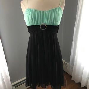 *WORN ONCE* Ruby Rox Black\Teal Formal Dress